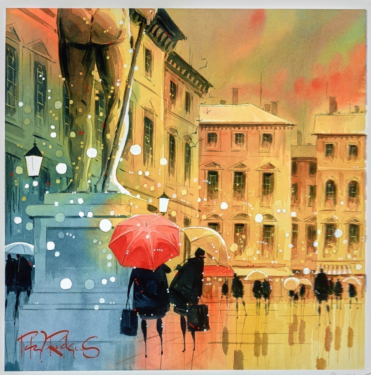 Art Critics by Peter J Rodgers -  sized 12x12 inches. Available from Whitewall Galleries